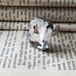 Large rhinestone ring